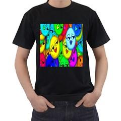 Smiley Girl Lesbian Community Men s T-Shirt (Black)