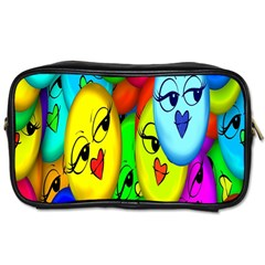 Smiley Girl Lesbian Community Toiletries Bags 2-Side