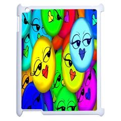 Smiley Girl Lesbian Community Apple Ipad 2 Case (white)