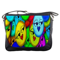 Smiley Girl Lesbian Community Messenger Bags