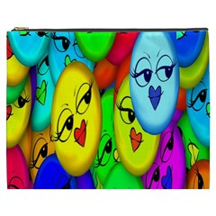 Smiley Girl Lesbian Community Cosmetic Bag (XXXL)