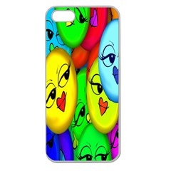 Smiley Girl Lesbian Community Apple Seamless Iphone 5 Case (clear)
