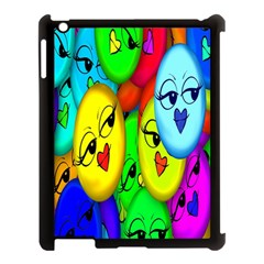 Smiley Girl Lesbian Community Apple iPad 3/4 Case (Black)
