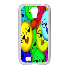 Smiley Girl Lesbian Community Samsung Galaxy S4 I9500/ I9505 Case (white)