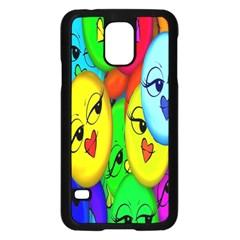 Smiley Girl Lesbian Community Samsung Galaxy S5 Case (black)