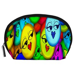 Smiley Girl Lesbian Community Accessory Pouches (large)