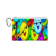 Smiley Girl Lesbian Community Canvas Cosmetic Bag (S)