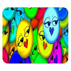 Smiley Girl Lesbian Community Double Sided Flano Blanket (Small)