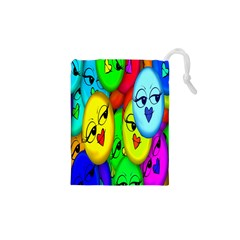 Smiley Girl Lesbian Community Drawstring Pouches (XS)