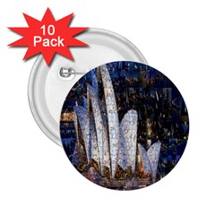 Sidney Travel Wallpaper 2.25  Buttons (10 pack)