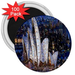 Sidney Travel Wallpaper 3  Magnets (100 Pack)