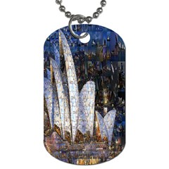 Sidney Travel Wallpaper Dog Tag (two Sides)