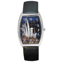 Sidney Travel Wallpaper Barrel Style Metal Watch