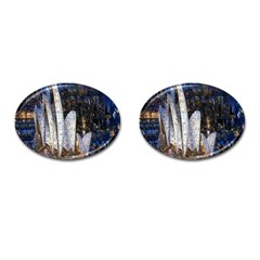 Sidney Travel Wallpaper Cufflinks (oval)