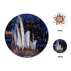 Sidney Travel Wallpaper Playing Cards (Round)
