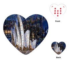 Sidney Travel Wallpaper Playing Cards (heart)