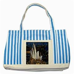 Sidney Travel Wallpaper Striped Blue Tote Bag