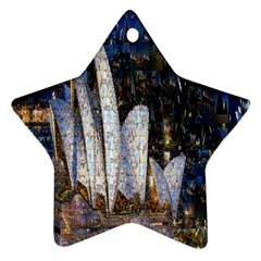 Sidney Travel Wallpaper Star Ornament (Two Sides)