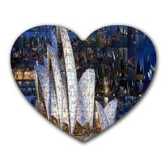 Sidney Travel Wallpaper Heart Mousepads
