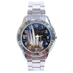 Sidney Travel Wallpaper Stainless Steel Analogue Watch