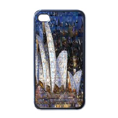 Sidney Travel Wallpaper Apple iPhone 4 Case (Black)