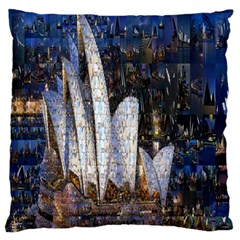 Sidney Travel Wallpaper Large Cushion Case (two Sides)