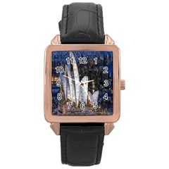 Sidney Travel Wallpaper Rose Gold Leather Watch