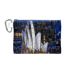 Sidney Travel Wallpaper Canvas Cosmetic Bag (M)