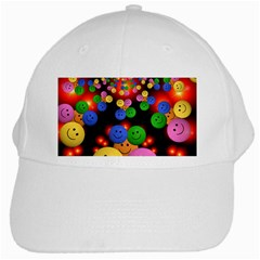 Smiley Laugh Funny Cheerful White Cap