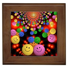 Smiley Laugh Funny Cheerful Framed Tiles