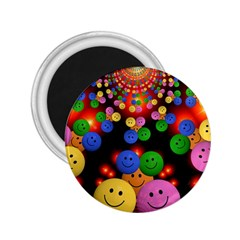 Smiley Laugh Funny Cheerful 2.25  Magnets