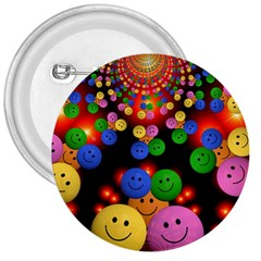 Smiley Laugh Funny Cheerful 3  Buttons