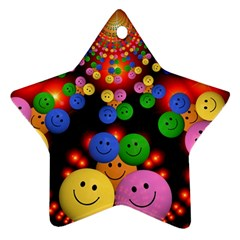 Smiley Laugh Funny Cheerful Ornament (star)