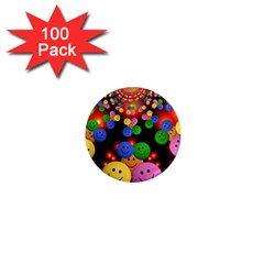 Smiley Laugh Funny Cheerful 1  Mini Magnets (100 Pack)