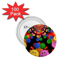 Smiley Laugh Funny Cheerful 1 75  Buttons (100 Pack)
