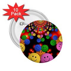Smiley Laugh Funny Cheerful 2.25  Buttons (10 pack)
