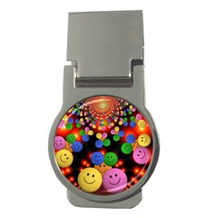 Smiley Laugh Funny Cheerful Money Clips (round)