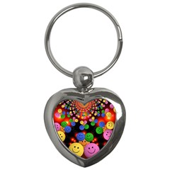 Smiley Laugh Funny Cheerful Key Chains (Heart)