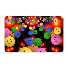 Smiley Laugh Funny Cheerful Magnet (rectangular)