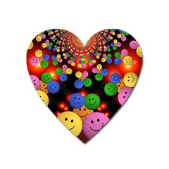 Smiley Laugh Funny Cheerful Heart Magnet