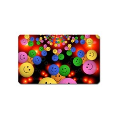 Smiley Laugh Funny Cheerful Magnet (Name Card)