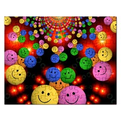 Smiley Laugh Funny Cheerful Rectangular Jigsaw Puzzl