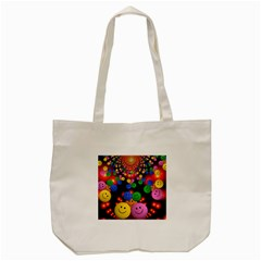 Smiley Laugh Funny Cheerful Tote Bag (Cream)