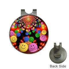 Smiley Laugh Funny Cheerful Hat Clips with Golf Markers