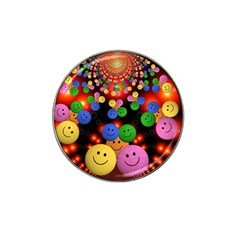 Smiley Laugh Funny Cheerful Hat Clip Ball Marker (4 Pack)