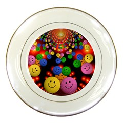 Smiley Laugh Funny Cheerful Porcelain Plates