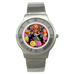 Smiley Laugh Funny Cheerful Stainless Steel Watch