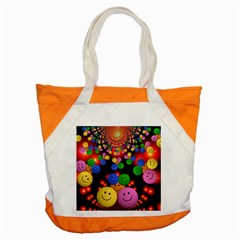 Smiley Laugh Funny Cheerful Accent Tote Bag