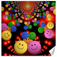 Smiley Laugh Funny Cheerful Canvas 20  x 20