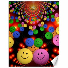Smiley Laugh Funny Cheerful Canvas 18  x 24